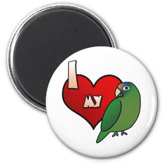 I Love my Half Moon Conure Magnet