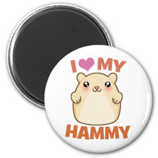 I Love My Hammy 2 Inch Round Magnet