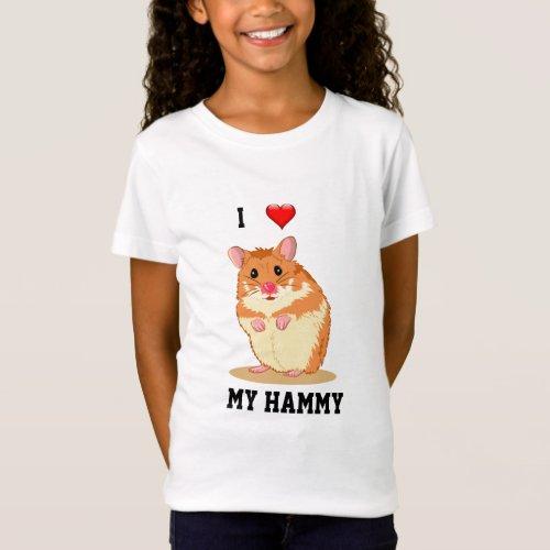 I Love My Hammy Hamster T_shirt