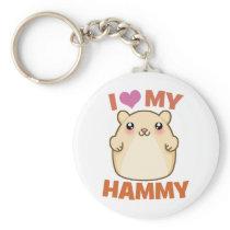 I Love My Hammy Keychain