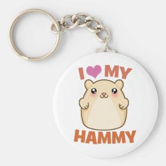 I Love My Hammy Keychains