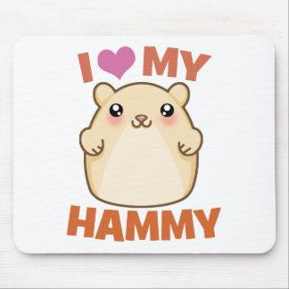 I Love My Hammy Mouse Pad