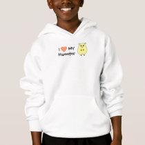 I Love My Hamster Girls Sweatshirt