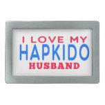 I Love My Hapkido Husband Belt Buckles