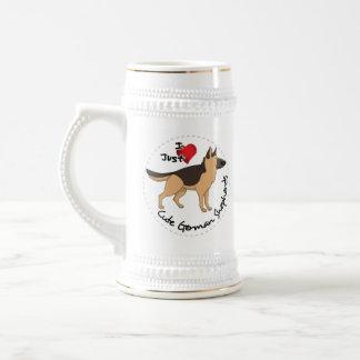 I Love My Happy Adorable & Cute German Shepherd Beer Stein