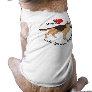 I Love My Happy Adorable & Cute German Shepherd T-Shirt