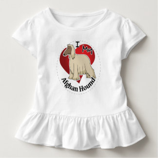 I Love My Happy Adorable Funny & Cute Afghan Hound Toddler T-shirt
