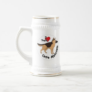 I Love My Happy Adorable Funny & Cute Alsatian Dog Beer Stein