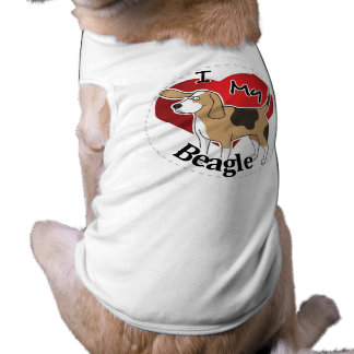 I Love My Happy Adorable Funny & Cute Beagle Dog T-Shirt