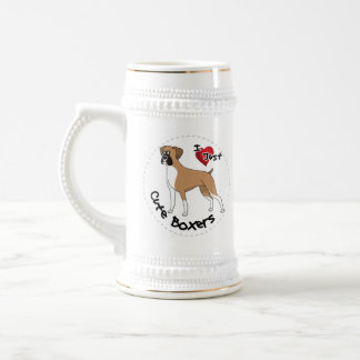 I Love My Happy Adorable Funny & Cute Boxer Dog Beer Stein