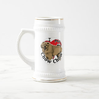 I Love My Happy Adorable Funny & Cute Chow Chow Beer Stein