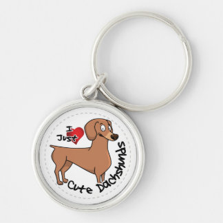 I Love My Happy Adorable Funny & Cute Dachshund Do Keychain