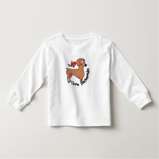 I Love My Happy Adorable Funny & Cute Dachsund Dog Toddler T-shirt