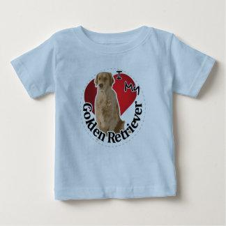 I Love My Happy Adorable Funny & Cute Golden Retri Baby T-Shirt