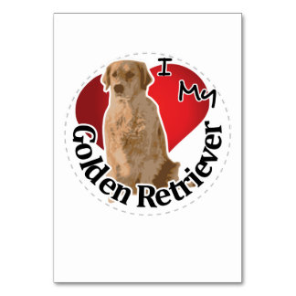 I Love My Happy Adorable Funny & Cute Golden Retri Card