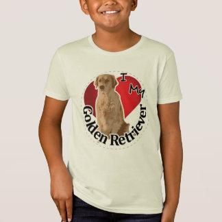 I Love My Happy Adorable Funny & Cute Golden Retri T-Shirt