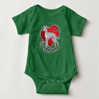 I Love My Happy Adorable Funny & Cute Greyhound Baby Bodysuit
