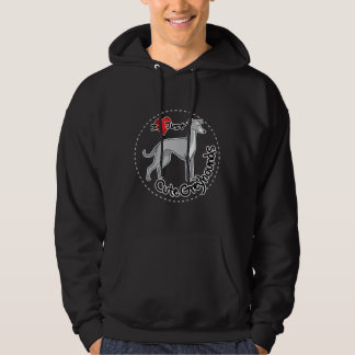 I Love My Happy Adorable Funny & Cute Greyhound Do Hoodie