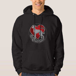 I Love My Happy Adorable Funny & Cute Greyhound Hoodie