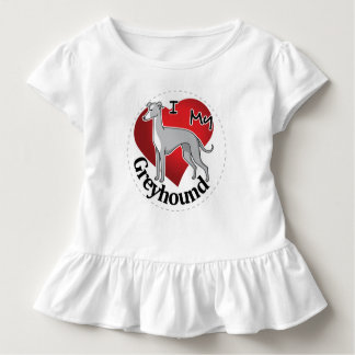 I Love My Happy Adorable Funny & Cute Greyhound Toddler T-shirt