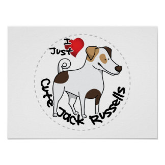 I Love My Happy Adorable Funny & Cute Jack Russell Poster