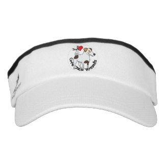 I Love My Happy Adorable Funny & Cute Jack Russell Visor