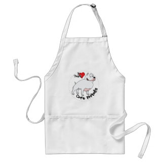 I Love My Happy Adorable Funny & Cute Pitbull Dog Adult Apron