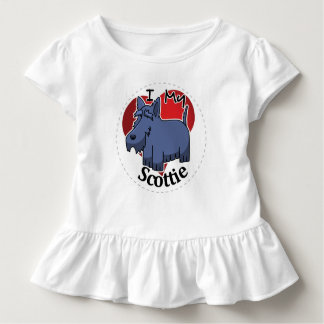 I Love My Happy Adorable Funny & Cute Scottie Dog Toddler T-shirt