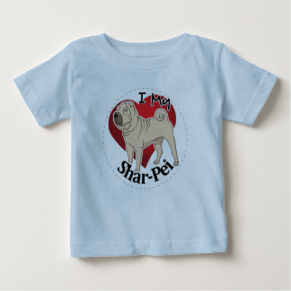 I Love My Happy Adorable Funny & Cute Shar-Pei Dog Baby T-Shirt