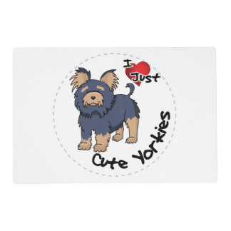 I Love My Happy Adorable Funny & Cute Yorkie Dog Placemat