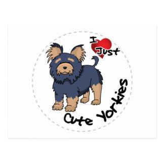 I Love My Happy Adorable Funny & Cute Yorkie Dog Postcard