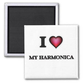 I Love My Harmonica Magnet