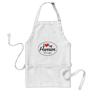 I Love My Harrier (It's a Dog) Adult Apron