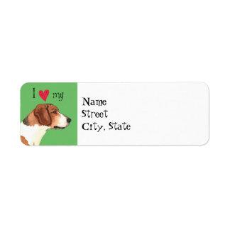 I Love my Harrier Return Address Label