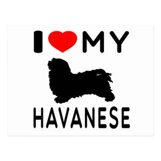 I Love My Havanese Postcard