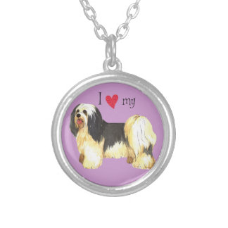 I Love my Havanese Silver Plated Necklace