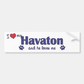 I Love My Havaton (Male Dog) Car Bumper Sticker