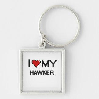I love my Hawker Silver-Colored Square Keychain