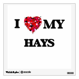 I Love MY Hays Wall Decals