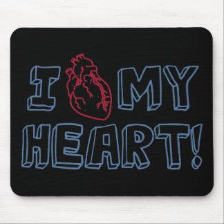 I Love My Heart Mousepads
