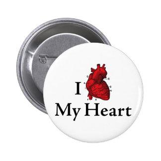 I love My heart Pin
