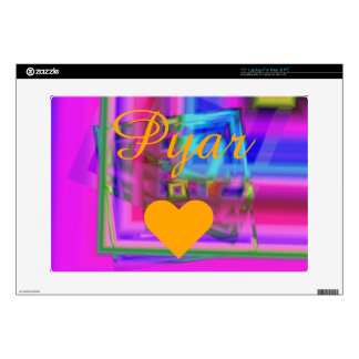 """I Love My Heart Soft Touch 15"""" Laptop Decals"""