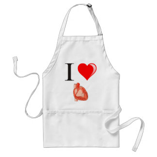 I love my hearts adult apron
