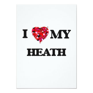 I Love MY Heath 5x7 Paper Invitation Card