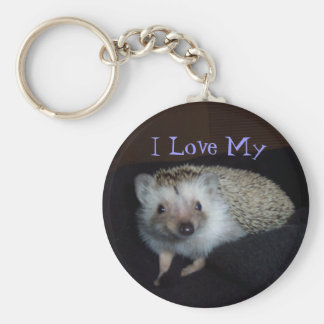 I Love My Hedgehog Keychain