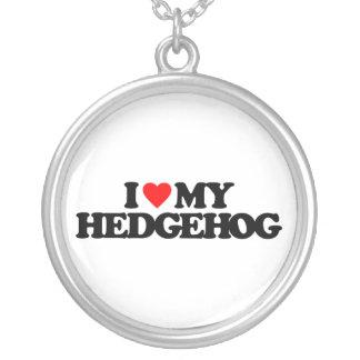 I LOVE MY HEDGEHOG ROUND PENDANT NECKLACE