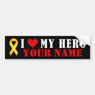 I Love My Hero Military Bumper Sticker