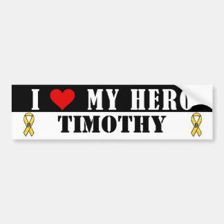 I Love My Hero Military Bumper Sticker Car Bumper Sticker