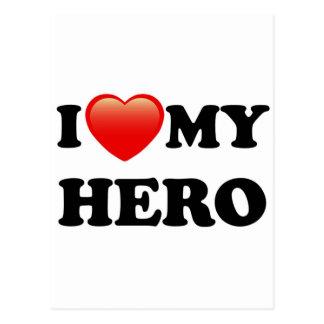 I LOVE MY HERO POSTCARD