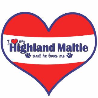 I Love My Highland Maltie (Male Dog) Acrylic Cut Outs